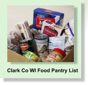 Clark Co WI Food Pantry List